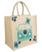 Jute bag square campervan